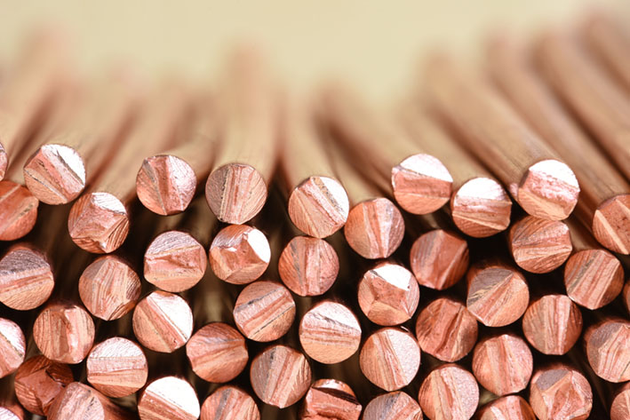 Copper wire raw materials and metals industry and stock market